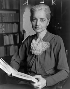 Ruth Benedict (hand-marked for cropping at theNew York World-Telegram, 1937) / From the New York World-Telegram and the Sun Newspaper Photograph Collection of the Library of Congress Prints & Photographs Division